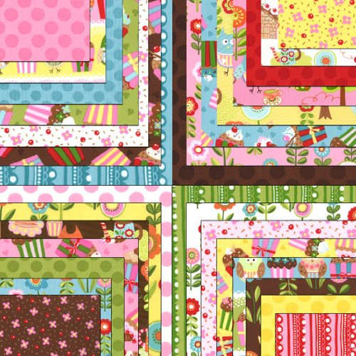Cherry on Top By Keiki - Moda Fabric Charm Pack - Five Inch Quilt Squares Quilting Material