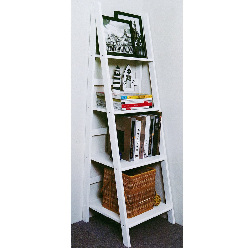 SCOTT   Ladder 4 Tier Storage / Display Shelves   White       reviews and more information