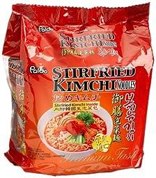 Paldo Stirfried Kimchi Noodles,5.29-Ounce Pouch (Pack of 16)