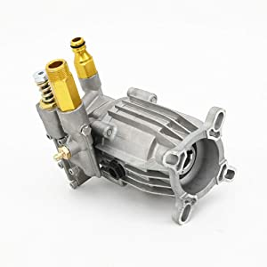 HYYKJ Cold Water Gas Power Pressure Washer Replacement Pump Horizontal Axial Aluminum Head 3000 PSI 2.5 GPM PW29/2.5C Fits 3/4 Horizontal Crank Shaft Engines Will Fit Excell Devilbiss 2002 CWT (Color: Silver, Tamaño: 9.1'' x 7.9'' x 6.3'')