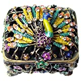 Extraordinary Peacock Bejeweled Trinket Box ~ Le Tr�sor