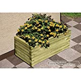 Pflanzkasten Blumenkasten aus Holz rechteckig 60 x 40 x 35