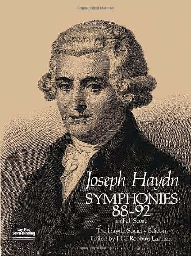 Symphonies 88-92 in Full Score [The Haydn Society Edition]