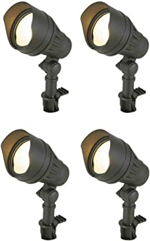 4-Pack Hampton Bay 50W LED Outdoor Flood Light