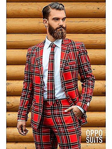 """Opposuit Scot """"Lumberjack"""",Ta. 56 carnevale Uomini costume vestito"""
