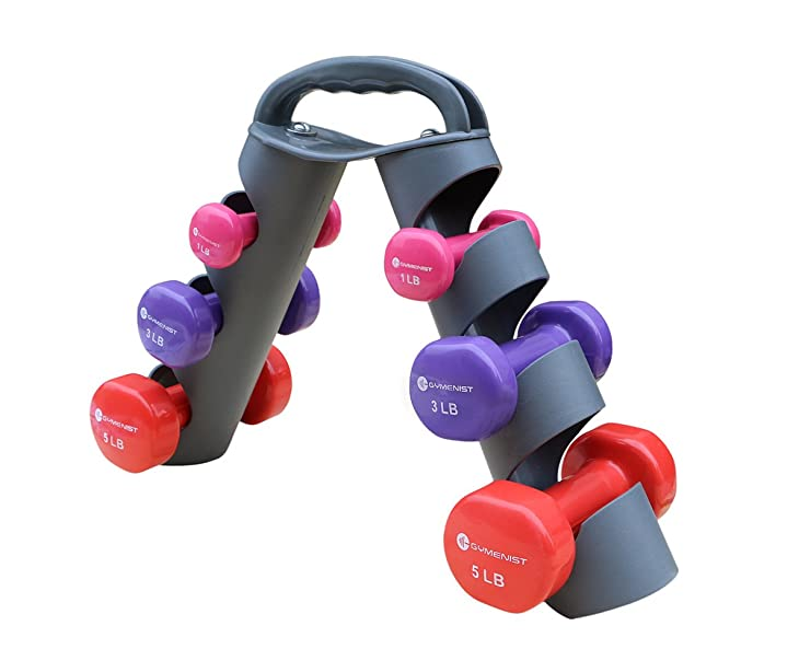 GYMENIST Dumbbell Set With Foldable Rack