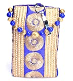 Ethnics Women's Mobile Pouch (Blue & Gold) (ETM024)