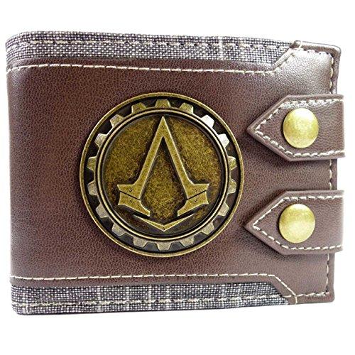 Ubisoft Assassins Creed Syndicate Jacob Logo Marrone portafoglio