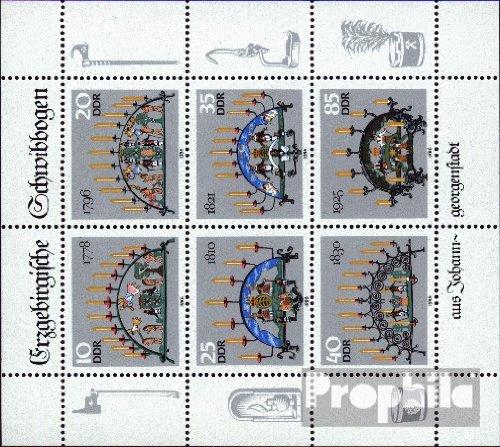 DDR 3057-3062 Kleinbogen (kompl.Ausgabe) postfrisch 1986 Schwibbogen (Briefmarken für Sammler)