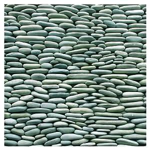 Standing Pebbles Random Sized Interlocking Mesh Tile in Cypress