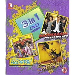 3 in 1 DVD - Yash Raj Films :- Badmaash Company / Dil Bole Hadippa! / Saathiya