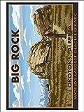 Big Rock - Okotoks, Alberta - World's Largest Glacial Erratic (9x12 Collectible Art Print, Wall Decor Travel Poster)