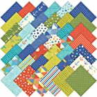 Moda Bartholo-meow's Reef Charm Pack, Set of 42 5-inch (12.7cm) Precut Cotton Fabric Squares