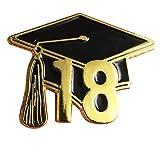 Graduationmall Zinc Alloy graduation Souvenir 2018 Lapel Pin Badges 1 piece (Color: Black)