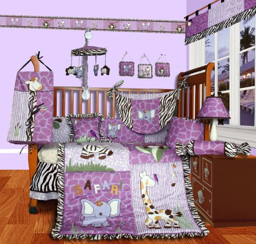 Custom Baby Girl Boutique - Safari 13 Pcs Crib Bedding