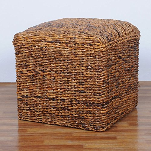 International Caravan Bali Ottoman with Cushion (Wicker Storage Ottoman compare prices)