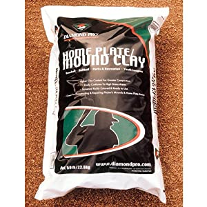 Diamond Pro Mound Home Plate Clay Sold Per EACH by Diamond Pro