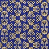 Tela azul ornamento Timeless Treasures Small Geo Metallic