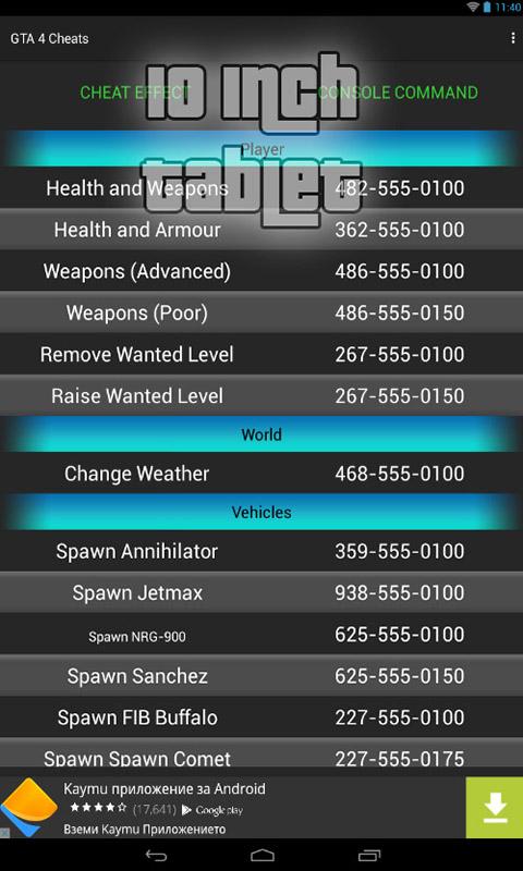 GRAND THEFT AUTO IV - Cheat Codes