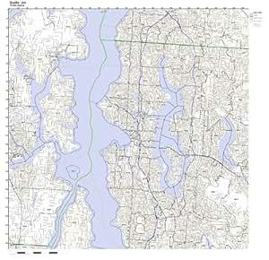 Amazon Seattle WA ZIP Code Map Laminated Home & Kitchen