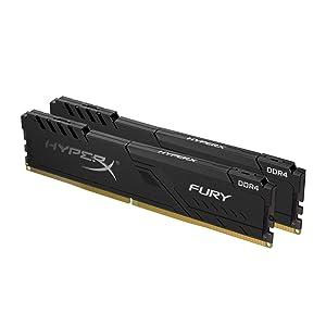 HyperX Fury 16GB 3733MHz DDR4 Ram CL19 DIMM (Kit of 2) 1Rx8 Black Desktop Memory with Low-Profile Heat Spreader (Tamaño: 16GB kit (2 x 8GB))