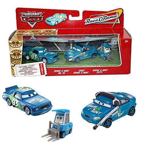 Disney Cars Cast 1:55 - Gift Pack Auto Fahrzeuge Spare O Mint, Chief & Pitty