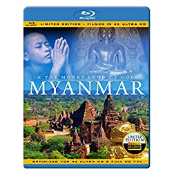 MYANMAR 4K IN THE MONKS LAND OF GOLD Limited Edition Filmed in 4K ULTRA HD) Blu-ray [Blu-ray]