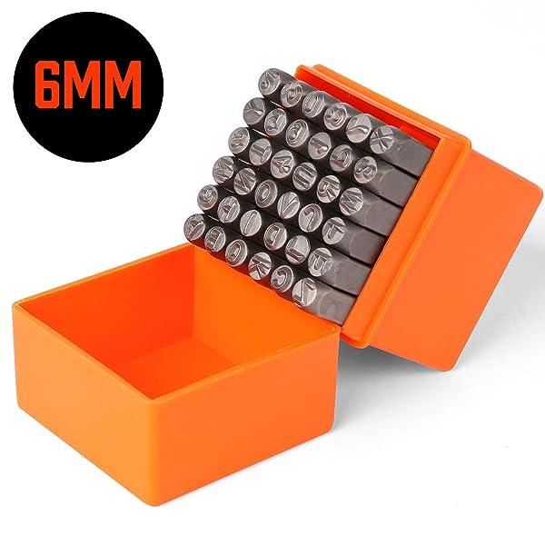 Steel Punch Stamp Die Set Metal Tool Letters 27-Piece Set 6mm A-Z