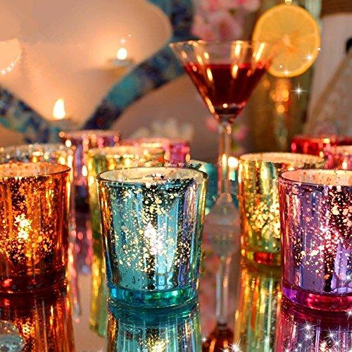 bargain world bunte glas cup kerzenst nder kerzenhalter