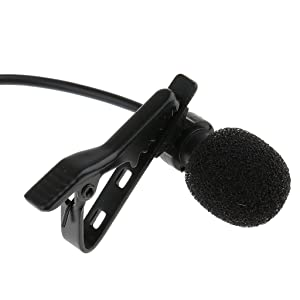 MonkeyJack 2Pack Clip On Microphone Hands Free Wired Undirectional Condenser 1/8(3.5mm) Mono Jack For Computer Voip Skype Laptop Voice Amplifier