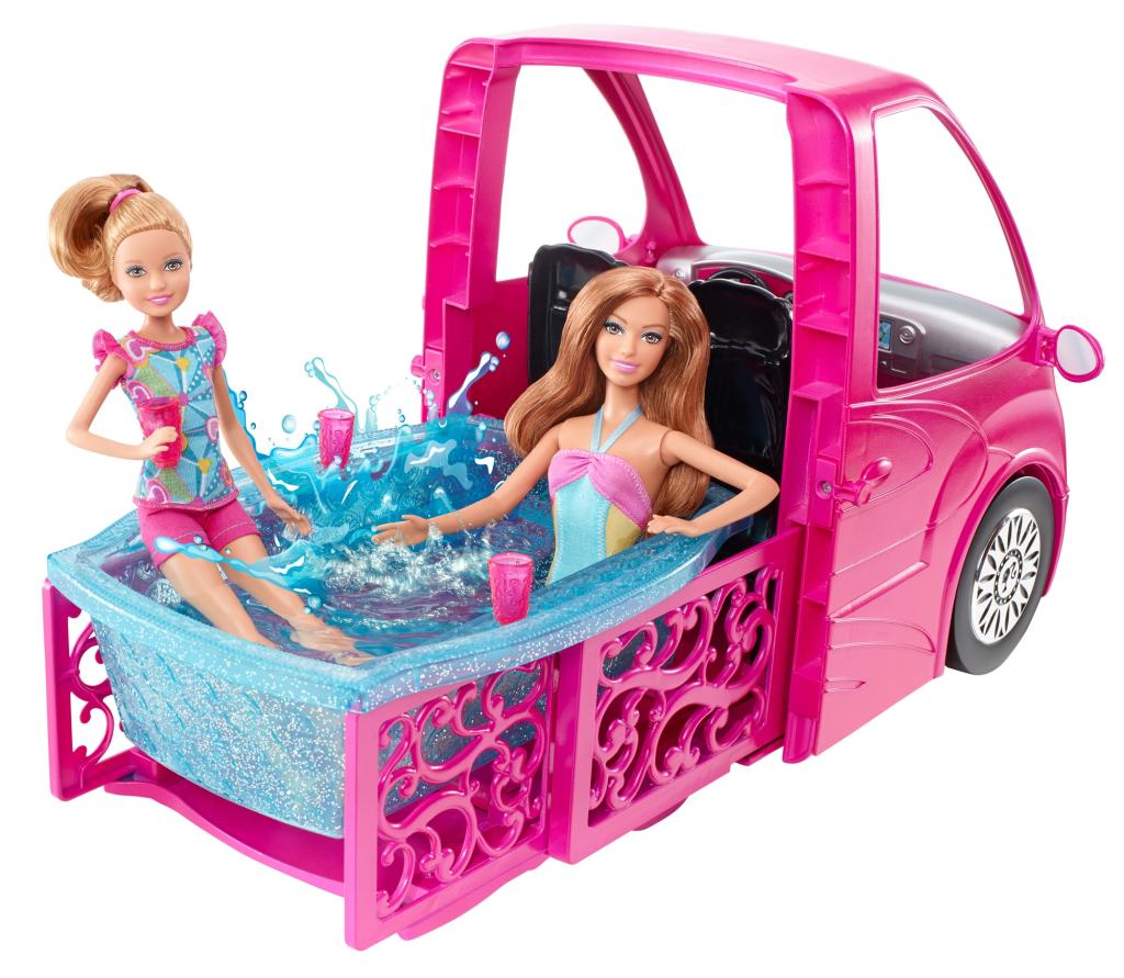 Barbie dreamhouse camper on sale for Barbie camper van with swimming pool
