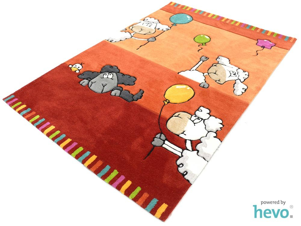 ballon rot hevo handtuft teppich kinderteppich spielteppich 110 170 cm ko tex 100. Black Bedroom Furniture Sets. Home Design Ideas
