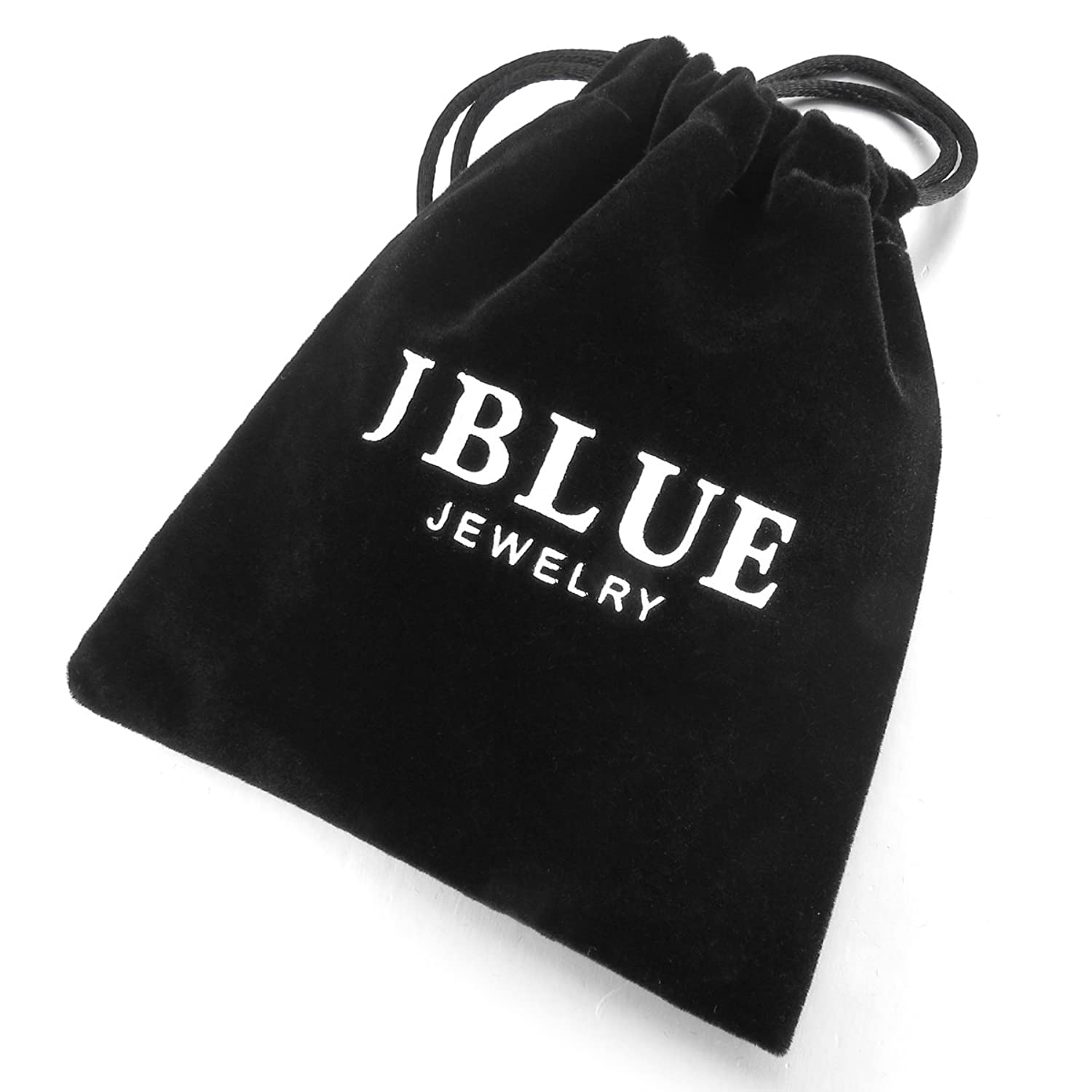 JBlue Jewelry Men's Stainless Steel Eternity Ring Band CZ Silver Stripe Charm Elegant Classic Wedding Polished (with Gift Bag)