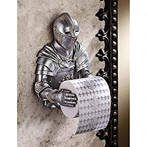 Design Toscano CL5768 A Kinght to Remember Gothic Bath Tissue Holder