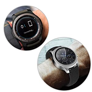 [6 Pack] Compatible Samsung Galaxy Watch 46mm/Gear S3 Screen Protector Film, Waterproof Tempered Glass Screen Protector Film for Gear S3 Frontier Gear S3 Classic (Color: Galaxy Gear S3/Galaxy Watch 46mm Screen Protector x 6, Tamaño: One Size)
