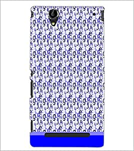 PrintDhaba Typography D-1820 Back Case Cover for SONY XPERIA T2 ULTRA (Multi-Coloured)