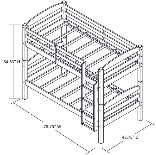 twin over twin metal bunk bed assembly instructions