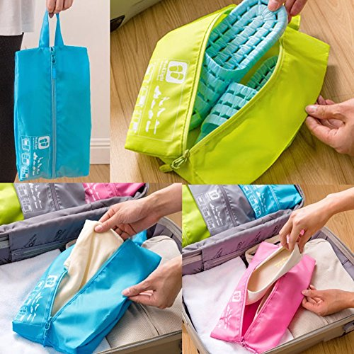 Portable Shoe Bag Tote Pouch Organizer Case Storage Zip Bags for Travel/Sports Coupon 2016