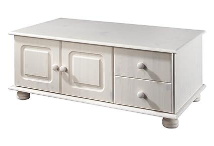 LifeStyleDesign, Tavolino da salotto, in legno di pino, 40 x 60 x 100, Bianco (Weiß)