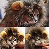 Alcoa Prime Furry Pet Hat Costume Lion Mane Wig For Cat Halloween Fancy Dress Up With Ears Party Home Drop Shipping