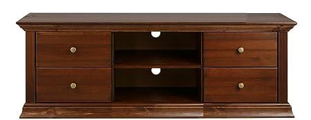 Meuble TV en bois de pin de style colonial Armoire pour TV, pour TV, meuble