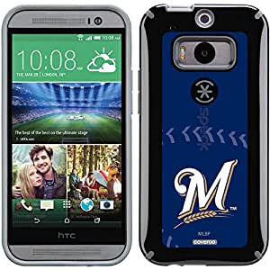 Coveroo CandyShell Cell Phone Case for HTC One M8 - Retail Packaging - Milwaukee Brewers Stitch
