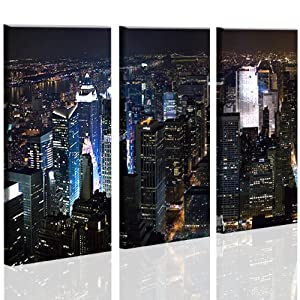 new york city v3 bild auf leinwand poster 3 bilder bilder auf leinwand fertig gerahmt auf. Black Bedroom Furniture Sets. Home Design Ideas
