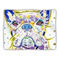 "Kess InHouse Rebecca Fischer ""Niko"" French Bulldog Pet Dog Blanket, 40 by 30-Inch"