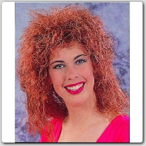 RG Costumes Curly Wig, Red