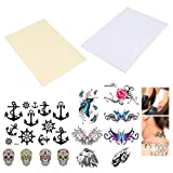 BENECREAT 20 Sheets (10 Pack) DIY A4 Temporary Tattoo Transfer Paper Printable Customized Halloween Tattoos