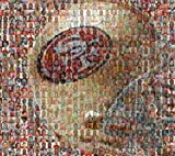 "NFL San Francisco 49ers Photo Mosaic Art Designed Using 100 Past and Present Players. 11x14"" Matted Print. at Amazon.com"