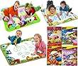 TOMY Aquadoodle 8 Designs - Rainbow, Animal Sounds, Winnie The Pooh, Peppa Pig Mini Mats, Chuggington, Disney Princess, Cars Collection 2, Twin Pack Aquadoodle Pens (Twin Pack Aquadoodle Pens)
