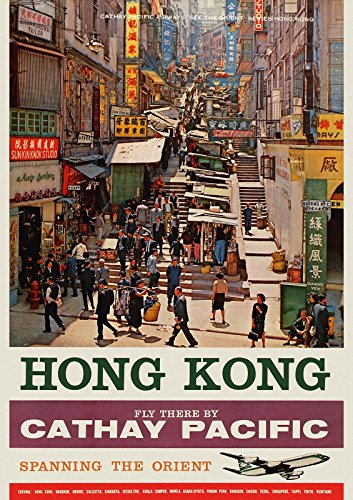 cathay-pacific-busy-street-on-hong-kong-vintage-travel-poster-repro-a2-42-x-594-cm