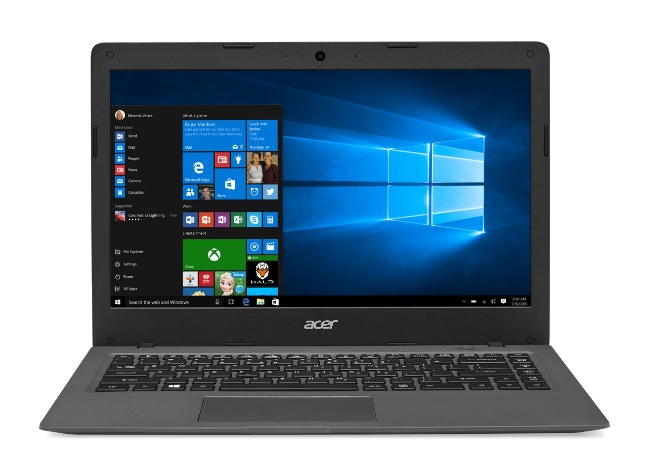 Acer Aspire One Cloudbook, 14-Inch HD, 64GB, Windows 10, Gray (AO1-431-C7F9) includes Office 365 Personal - 1 year
